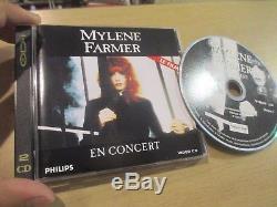 Mylene farmer rare cdi en concert 2eme pressage lisible dvd rare comme promo