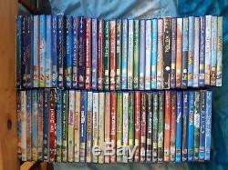 Rare lot 67 DVD disney numéroté avec losange dont rare peter coquin danny etc
