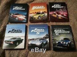 Steelbook Fast and Furious 1 à 6 Zavvi UK