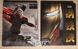 Steelbook Iron Man + Thor The Dark World Edition 1/4 Slip Blufans